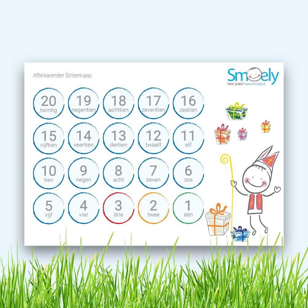Aftelkalender Sinterklaas   Gratis Download   Smoely