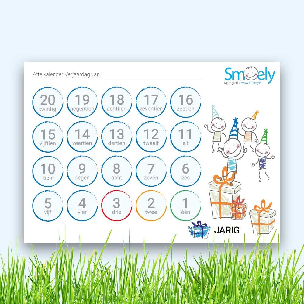 Aftelkalender Verjaardag Gratis Download Smoely