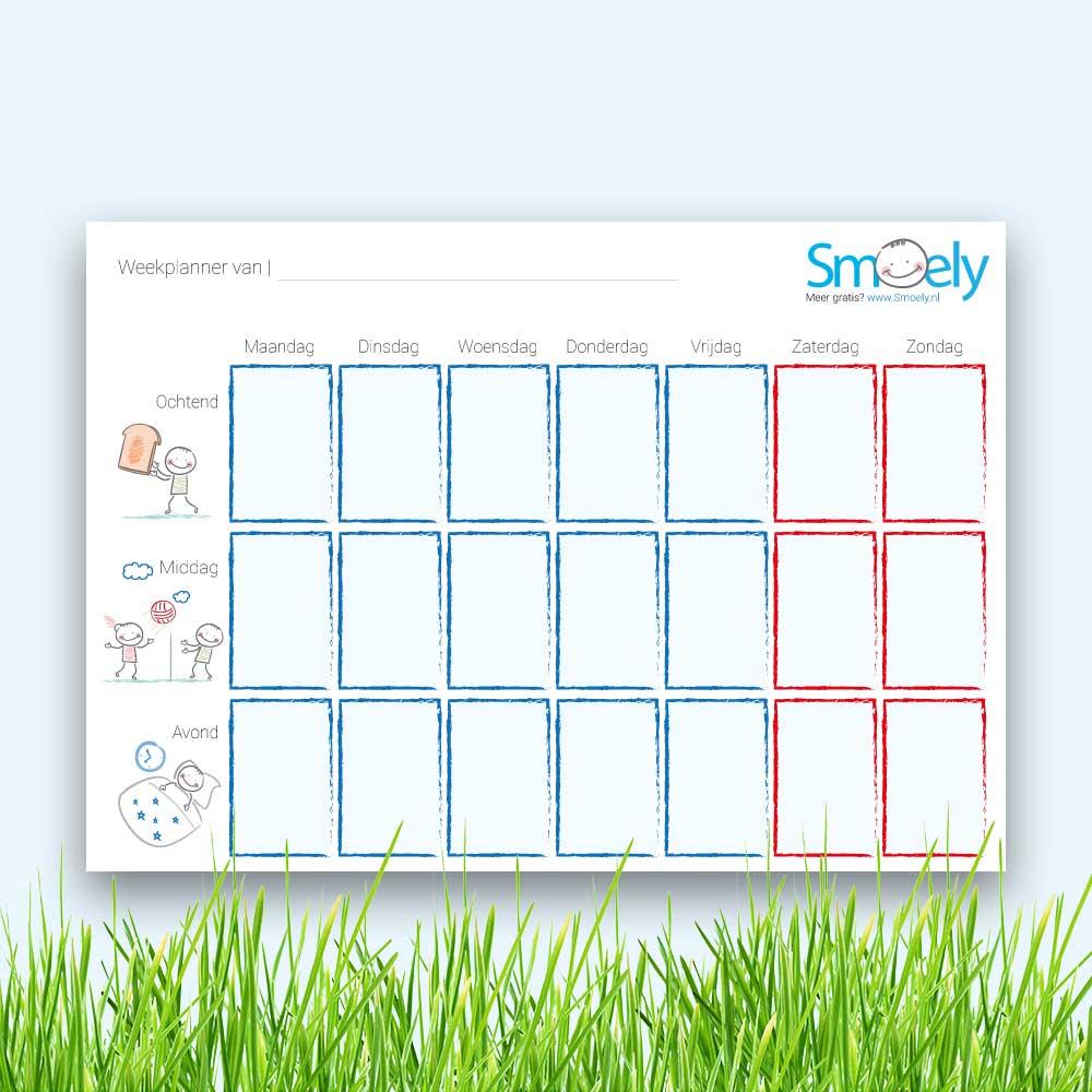 Genoeg Weekplanner kind | Gratis Download | Smoely KZ41